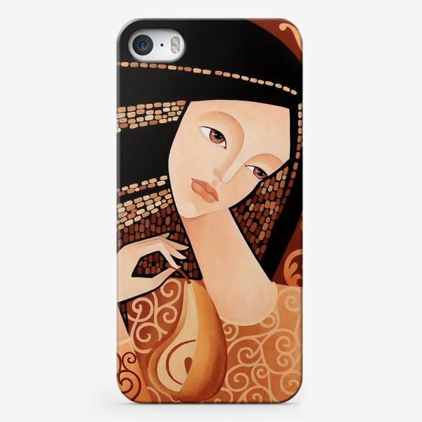 Чехол iPhone «Девушка с грушей»