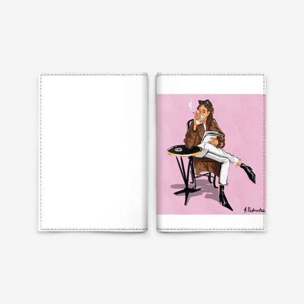 Обложка для паспорта «Стильная девушка сконфигурировать сигаретой»