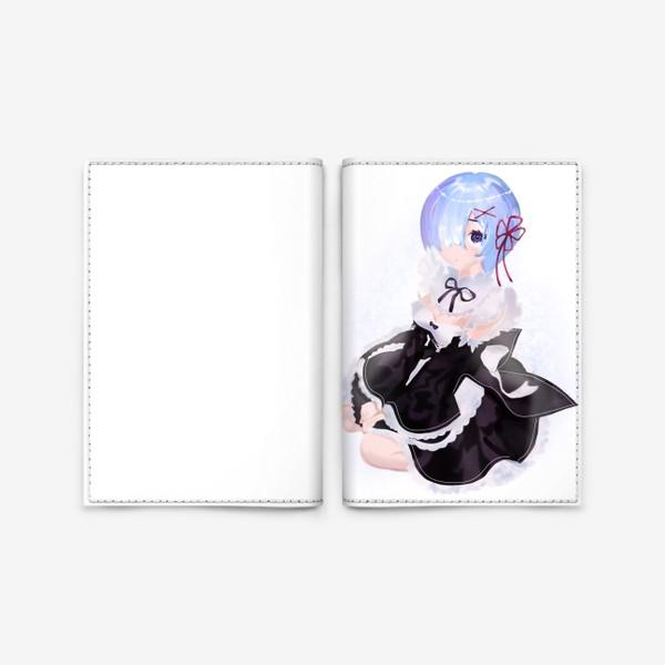 Обложка для паспорта «Аниме. Rem. На голубом фоне»