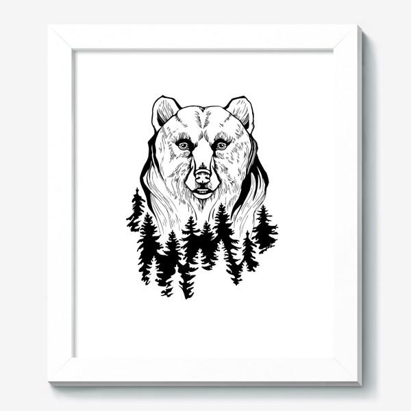 Картина «Медведь и лес»