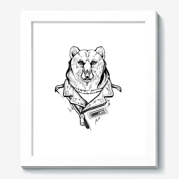 Картина «Медведь в куртке-косухе»