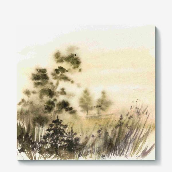 Холст «Осень в тумане»