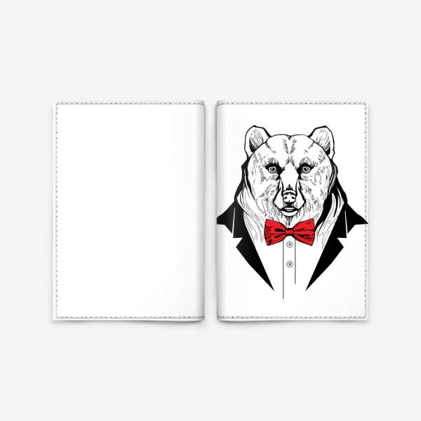 Обложка для паспорта «Медведь в галстуке-бабочке»