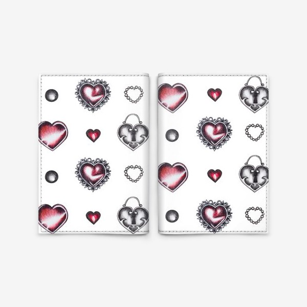 Обложка для паспорта «Сердечки. День Святого валентина»
