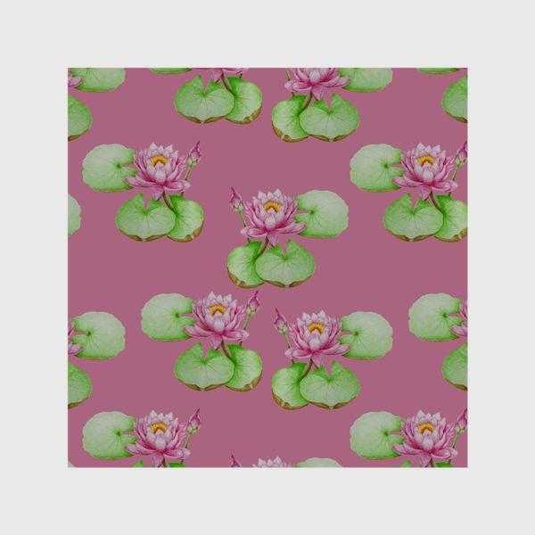 Шторы «Лотосы на розовом фоне»