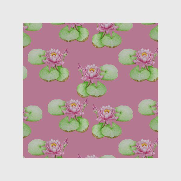Скатерть «Лотосы на розовом фоне»