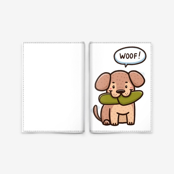 Обложка для паспорта «Милый щенок»