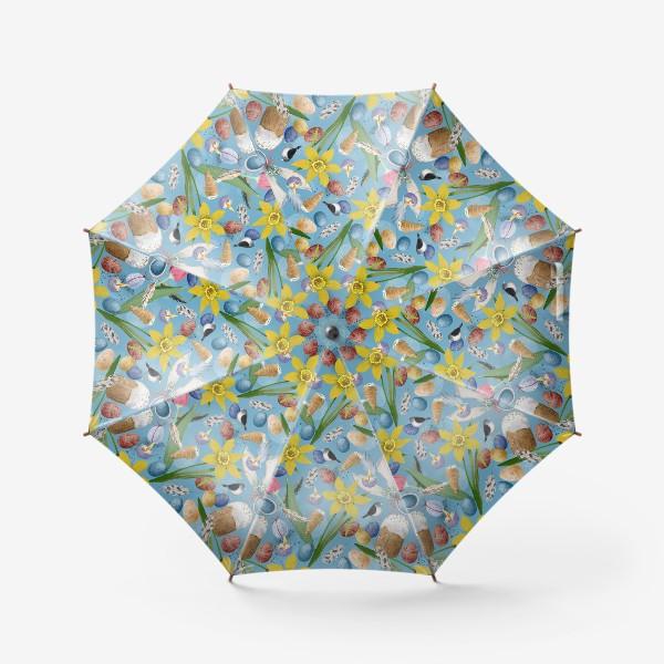 Зонт «Пасхальный весенний паттерн»