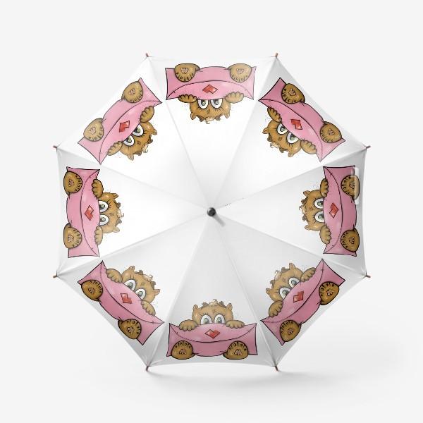Зонт «Котенок с валентинкой»