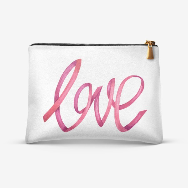 Косметичка «Надпись - леттеринг любовь love»