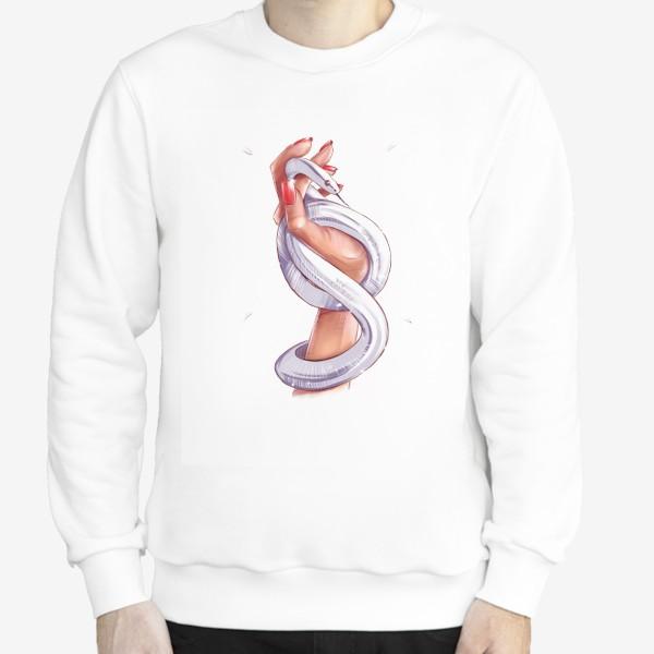 Свитшот «Рука со змеей. Без фона. Год змеи. Fashion иллюстрация.»