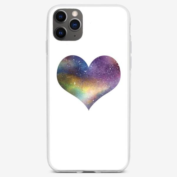 Чехол iPhone «Космическое сердце 1»