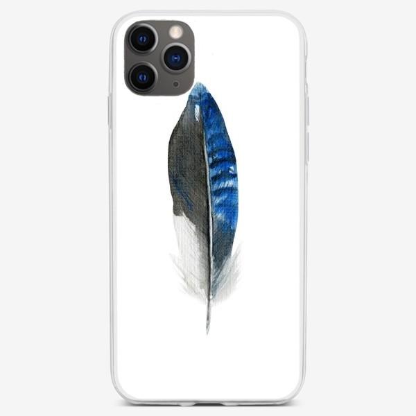 Чехол iPhone «Синее перо»
