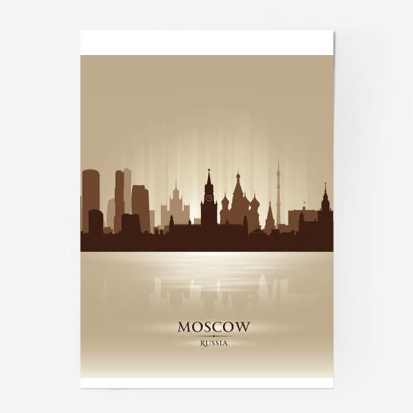 Постер «Москва бронзовый силуэт города»