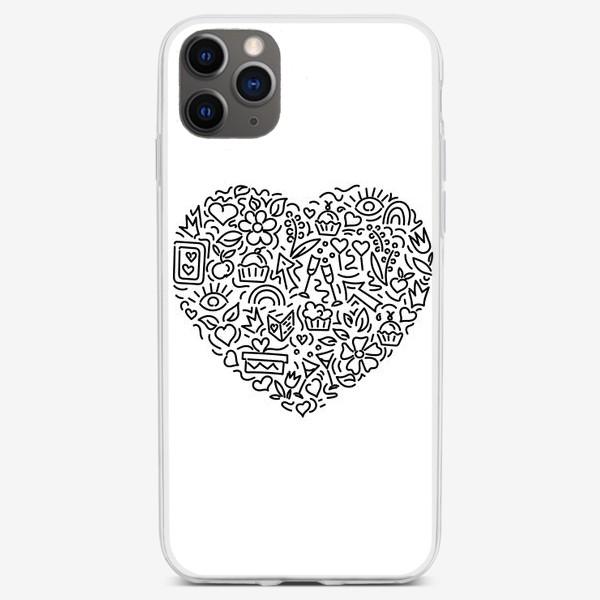 Чехол iPhone «Праздничное сердце»