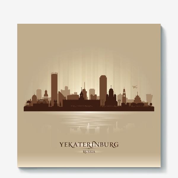 Холст «Екатеринбург бронзовый силуэт города»