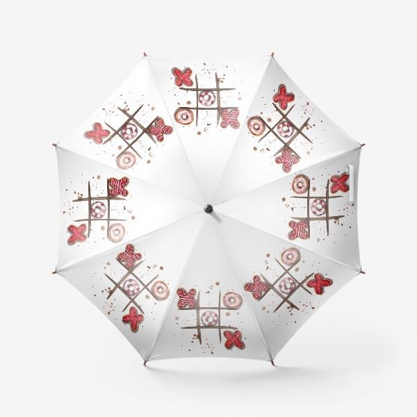 Зонт «Крестики-нолики»