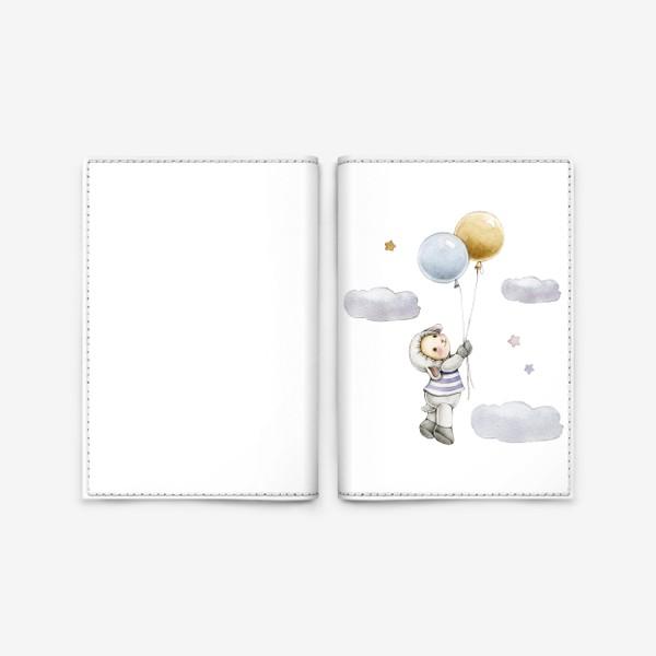 Обложка для паспорта «Овечка  в облаках»