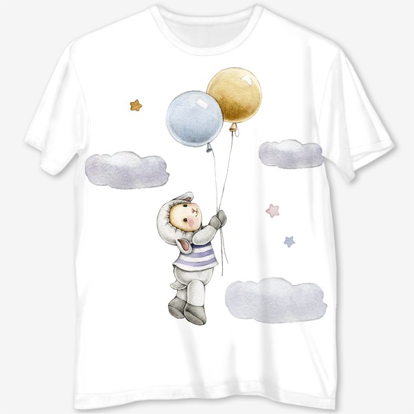 Футболка с полной запечаткой «Овечка  в облаках»