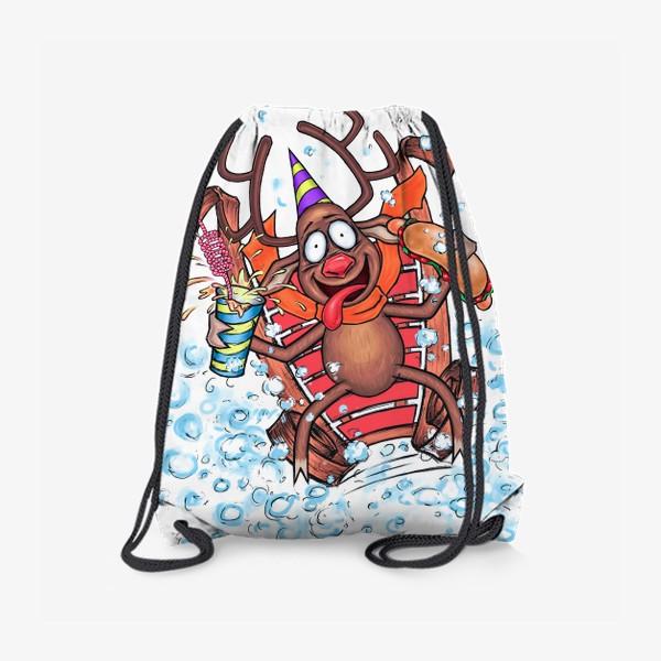 Рюкзак «Олень на санках»