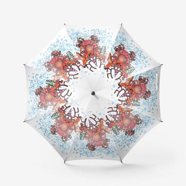 Зонт «Олень на санках»