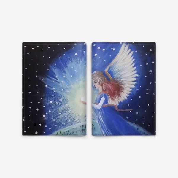 Обложка для паспорта «Ангел Рождества»