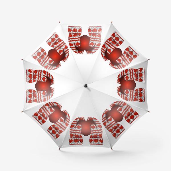 Зонт «Сердечный подарок (руки в варежках держат сердце)»