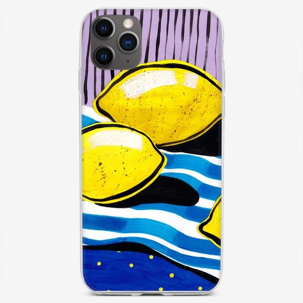 Чехол iPhone «Желтые лимоны»