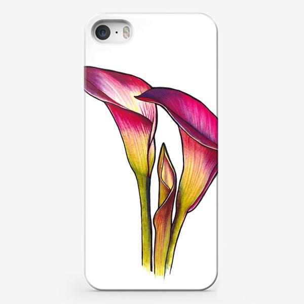 Чехол iPhone «Розовые каллы»