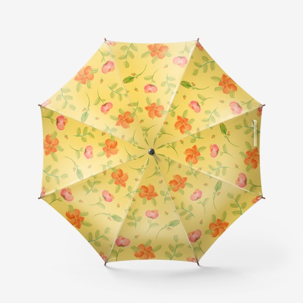 Зонт «красные цветы»