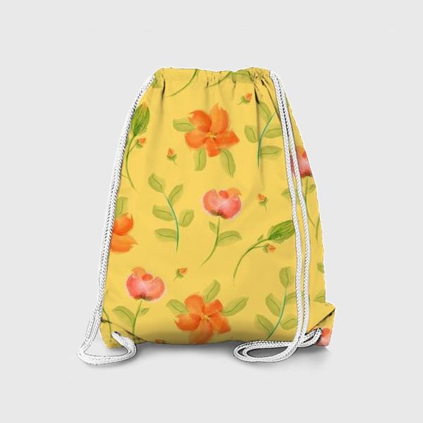 Рюкзак «красные цветы»