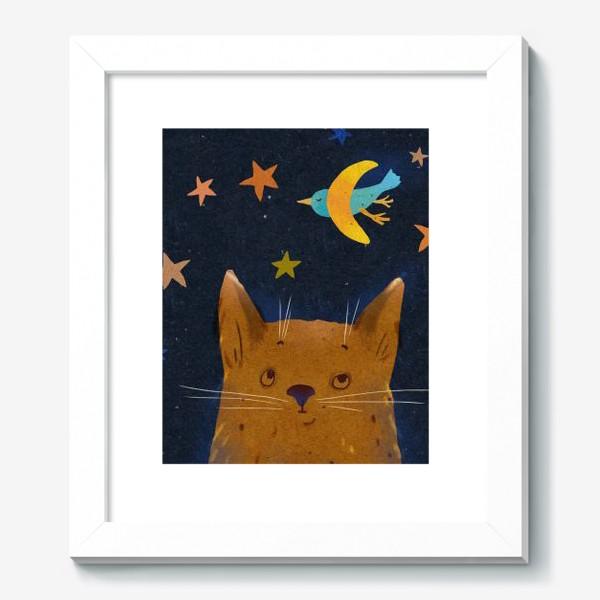 Картина «Котенок ночью смотрит на птицу-месяц»