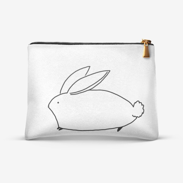 Косметичка «Белый милый кролик»