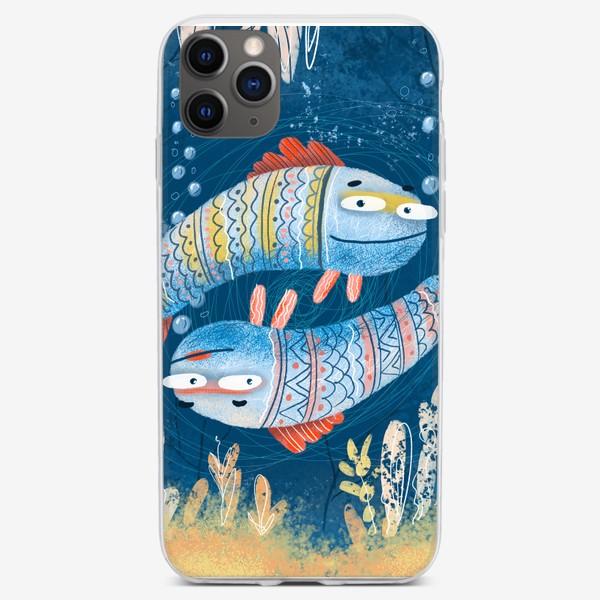Чехол iPhone «Рыбы близнецы»