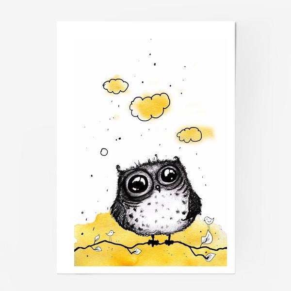 Постер «Кофейная сова»