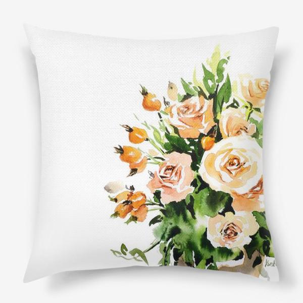 Подушка «Чайные розы»