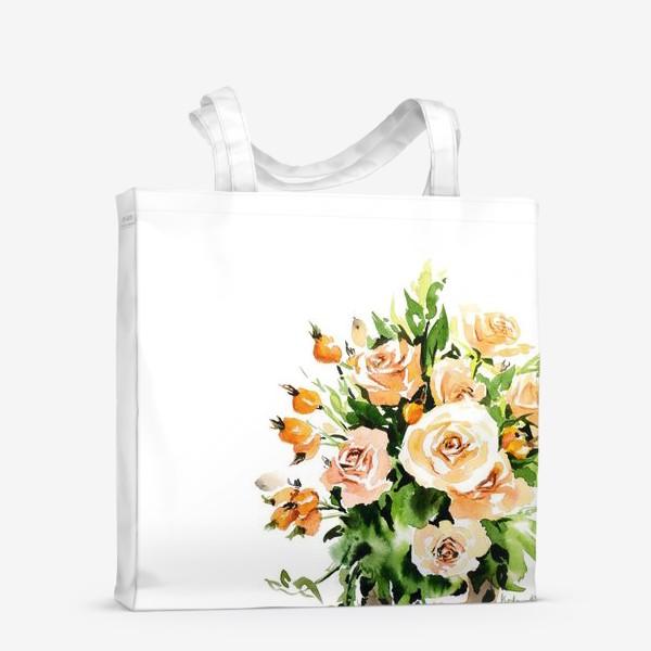 Сумка-шоппер «Чайные розы»