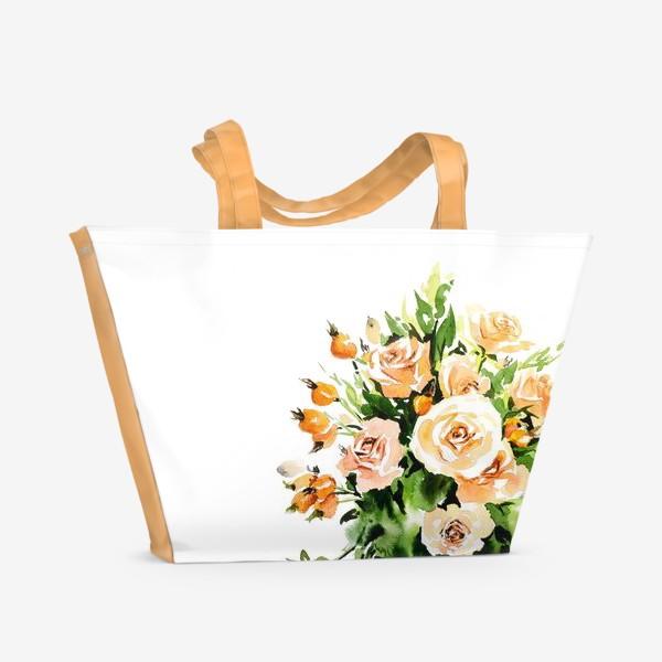 Пляжная сумка «Чайные розы»