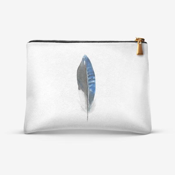 Косметичка «Синее перо»