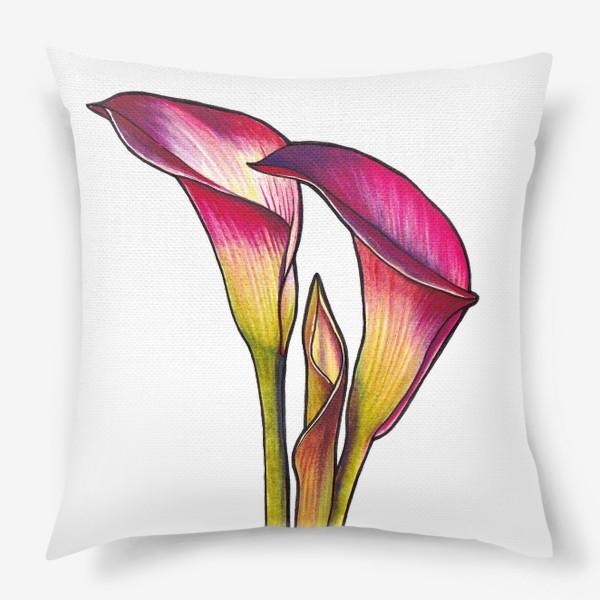 Подушка «Розовые каллы»