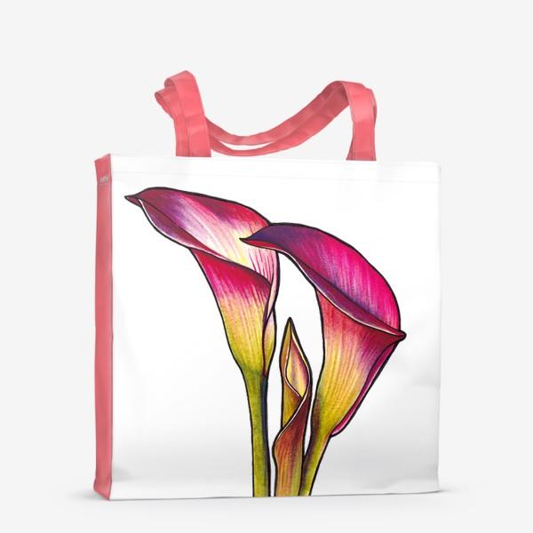 Сумка-шоппер «Розовые каллы»