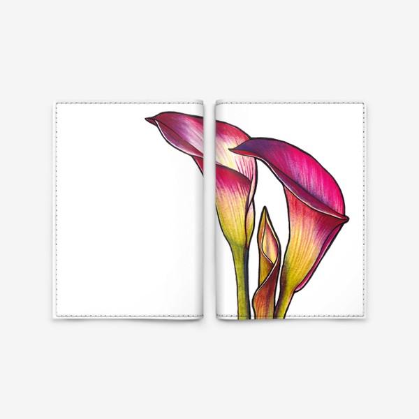Обложка для паспорта «Розовые каллы»