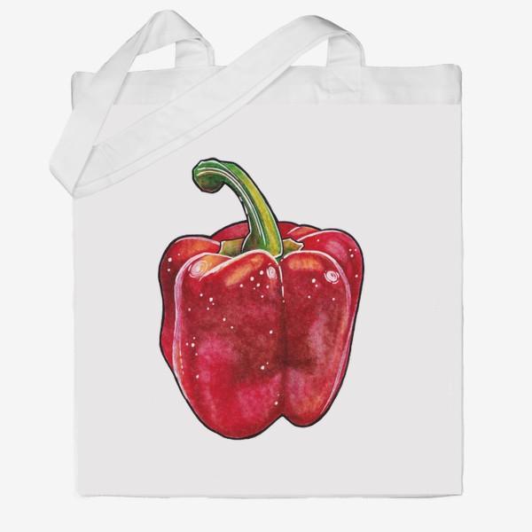 Сумка хб «Сочный красный перец»