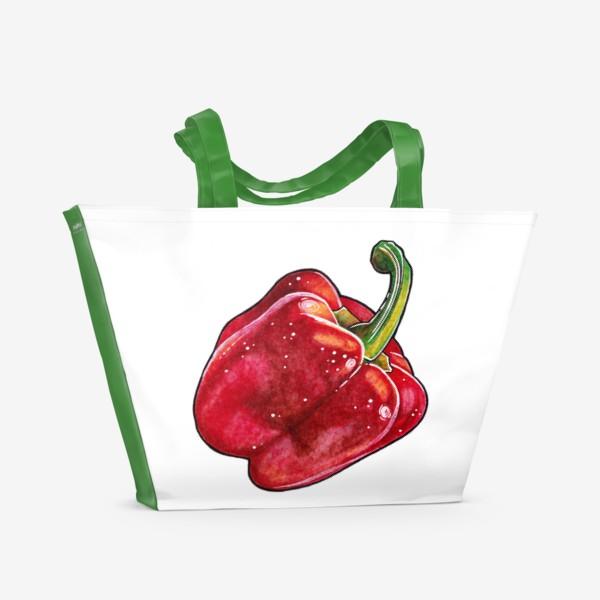 Пляжная сумка «Сочный красный перец»