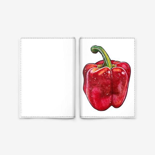 Обложка для паспорта «Сочный красный перец»