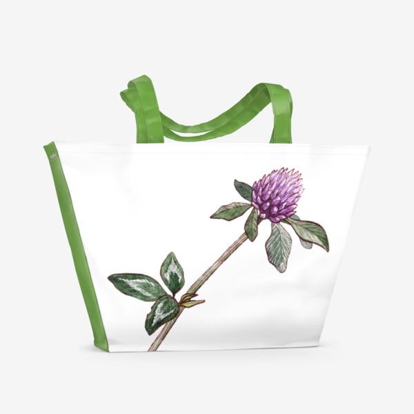 Пляжная сумка «Цветок клевера»