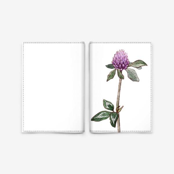 Обложка для паспорта «Цветок клевера»