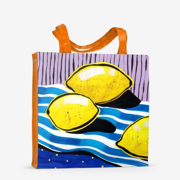 Сумка-шоппер «Желтые лимоны»