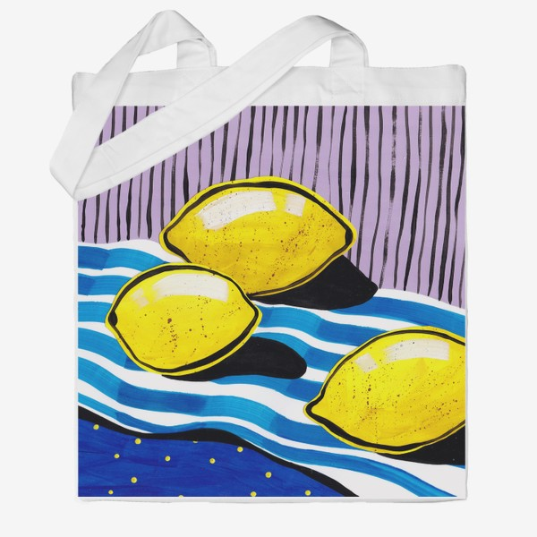 Сумка хб «Желтые лимоны»