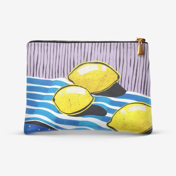 Косметичка «Желтые лимоны»